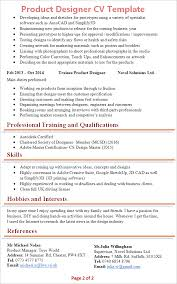 free resume template layout sketchup download 2016 turbotax for sale product designer cv template tips and download cv plaza
