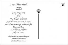 just married cards just married announcements