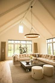 Vaulted Ceiling Living Room Design by Living Room With Hanging Chandelier And Vaulted Ceiling The