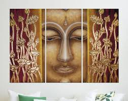 Buddha Themed Bedroom Buddha Wall Art Etsy