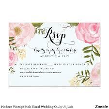Accommodation Cards For Wedding Invitations Modern Vintage Pink Floral Wedding Online Rsvp Card Floral