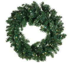 ed on air 24 prelit wreath by degeneres page 1 qvc
