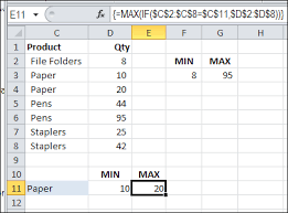 Countif Sumif Minif How To Find Min If Or Max If In Excel Contextures