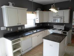 Pictures Of Kitchens With White Cabinets And Black Countertops White Cabinets Black Granite Small Kitchen Feat