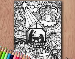 instant download coloring unicorn art print zentangle