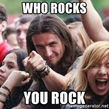 Rock Meme - who rocks you rock ridiculously photogenic metalhead meme