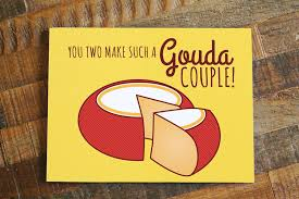 wedding card wedding card gouda cheese pun card