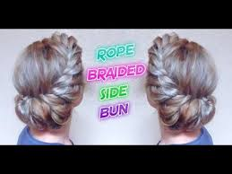 hairstyle joora video wedding hairstyle rope braided side bun awesome hairstyles youtube
