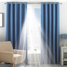 Denim Curtain Blue Ready Made Curtains Home Focus At Hickeys