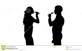 wine silhouette one couple man and woman drinking wine slow stock video video