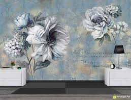 retro wallpaper vintage wall murals flowers and notes in retro wallpaper vintage wall murals flowers and notes in vintage style fototapet art retro wallpaper the best selection of wall murals and photo