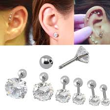 stud for ear online shop earring fashion jewelry four prong set clear cz16g