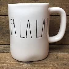 rae dunn fa la la coffee mug magenta kitchen products i love