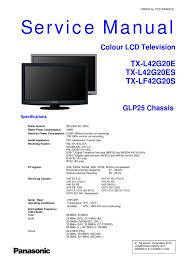 manual de serviço tv panasonic tx l42g20e tx l42g20es e tx