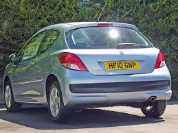 peugeot 207 sedan used ice blue metallic peugeot 207for sale dorset
