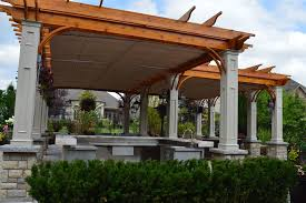 Retractable Pergola Awnings by Double Motorized Canopies In Ridgefield Shadefx Canopies