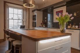 kitchen island worktop wide plank oak island worktop with curved breakfast bar home