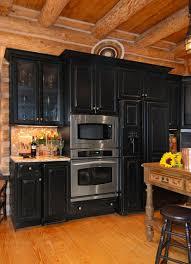 Black Rustic Kitchen Cabinets Rustic Log Cabin Kitchen