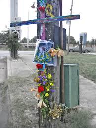 memorial crosses for roadside crosses flowers and asphalt roadside memorials in the us south