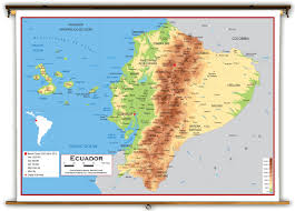 Topographical Map Of South America by Ecuador Physical Educational Wall Map From Academia Maps