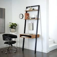 Leaning Bookshelf With Desk Desk Diy Leaning Ladder Desk Diy Leaning Bookshelf Desk Ladder