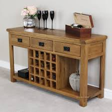sofa table with wine rack rustic oak buffet with wine rack home decor housewares pinterest