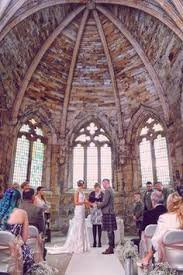 wedding arch edinburgh wedding in progress inside seton collegiate church scotland