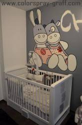 chambre bébé lola graffiti deco graff décoration bébé baby graffeur déco taggeur