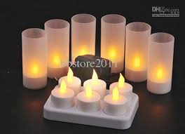 wholesale rechargeable candle l led lights realistic tea