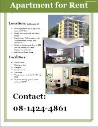 apartment for rent flyer template apartment flyer template