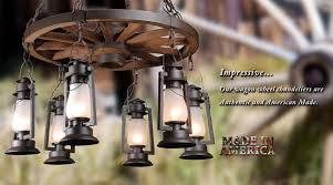 Wagon Wheel Lighting Fixtures Rustic Lighting Fixtures Chandeliers Lanterns And Pendants