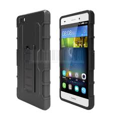 hybrid rugged holster hard case stand shockproof cover for huawei