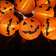 pumpkin lights 10 leds pumpkin string lights orange paper fairy