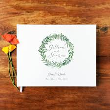 personalized guest books wedding guest book landscape 13 hardcover wedding