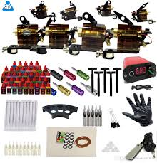 complete rotary tattoo machine equipment set starter kit 4 tattoo