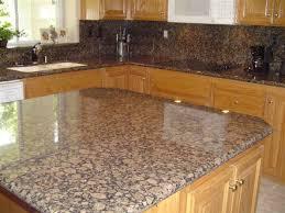 Beautiful Limestone Backsplash  Baltic Brown Granite - Baltic brown backsplash
