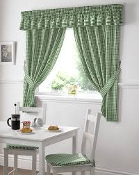 Nursery Curtains Uk by Gingham Kitchen Curtains Green Curtain Value Free Uk Delivery
