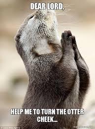 Lord Help Me Meme - dear lord help me to turn the otter cheek make a meme