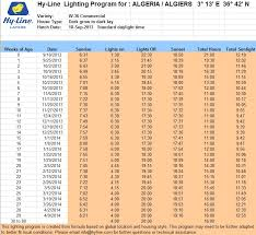 hyline lighting program chickens genetics poultry eggs diseases