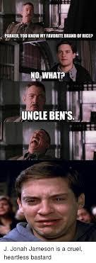 Jameson Meme - parker you know my favorite brandofricep no what uncle ben s j