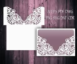 Wedding Invitation Pocket Envelopes 5x7 Wedding Invitation Pocket Envelope Svg Template