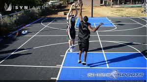 Backyard Basketball Court 6 Reasons To Install A Backyard Basketball Court Synlawn