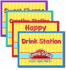 Personalized Party Decorations Play Doh Birthday Party Supplies