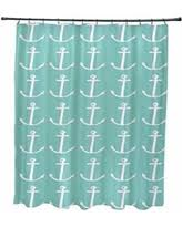 huge deal on coastal living palm shower curtain in aqua
