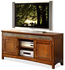 Badcock Lake Worth Fl by Riverside Furniture Craftsman Home 2 Door Tv Console With Front