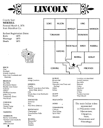 Wisconsin Counties Map by Townships And Other Locations In Lincoln County Wi