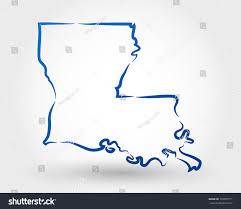 Map Of Louisiana by Map Louisiana Map Concept Stock Vector 135005711 Shutterstock