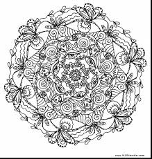 wonderful printable butterfly mandala coloring pages with free