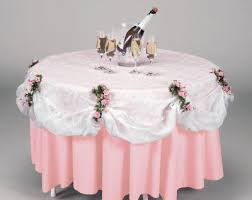 pink round table covers white clear lace look 84 inch round table cover