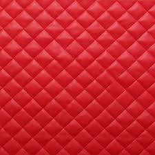 Maroon Upholstery Fabric Quilted Leather Faux Leather Diamond Padded Cushion Interior